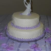 Two Tier With Flowers