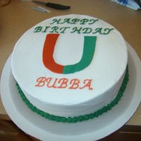 University Of Miami Cake For a little boy's 10th birthday party...he was surprised by the inside!