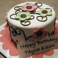 Birthday Chai Tea cake with cream cheese filling