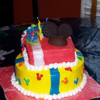 Mickey Mouse Cake I made this Mickey Mouse Cake for my son's first birthday.