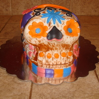 Skull Cake carved freehand