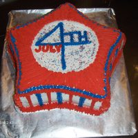 Fourth Of July Cake white cake with buttercream icing
