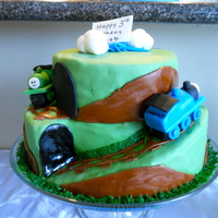 Thomas & Percy Cake This was a great idea, that combined a couple from other CC'ers. Thanks for the inspriation. It is a chocolate cake on the bottom, and...