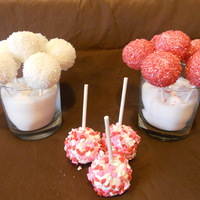 Valentine's Day Cake Pops I am having way to much fun with these cake pops. I did some white, red and heart sprinkle cake pops. They are quite easy and so well...