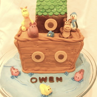 Noah's Ark Baby Shower Cake This was a cake that was inspired by CynfullySweets design. It was a fun cake to make, and a great chance to practice making gumpaste...