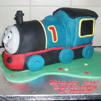 First Thomas The Tank My first attempt at Thomas the Tank. One of the most difficult cakes i've made!!! My tip use a good quality fondant to cover the cake...