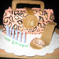 Leopard Print Purse And Shoe   Surprise Sweet 16 for a friend of the family.