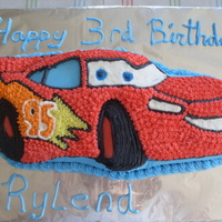 Lightening Mcqueen A friend asked for a simple Lightening McQueen Cake for her Grandson.