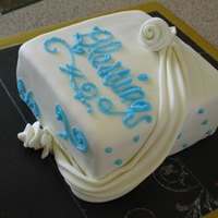 Practice Cake practicing everything, corners, swags, writing