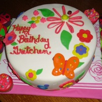 Flowers Fun cake, just starting to decorate my boards!Hmmm, I tried.