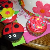 Cupcakes Made with canned frosting, dipped and deco with BC and fondant