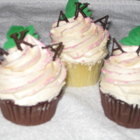 Aka Cupcakes   These chocolate and vanilla cupcakes were for my step-mother's sorority Alpha Kappa Alpha
