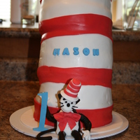 Cat In The Hat Cake little Cat figure and large hat