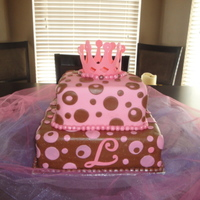 My First Fondant Cake This cake is for my daughter Lauryn and she just turned 4. This is a first for me for making home made fondant (1, covering a cake in...