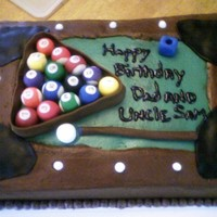 Pool Table Pool Table cake for my dad and uncle's birthday.