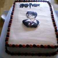 Harry Potter Made this cake for fun; WASC with raspberry filling. Still need work on my frozen buttercream transfer, but there was slight improvement...