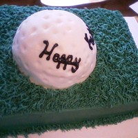 Father's Day Golf Cake   Father's Day golf cake.