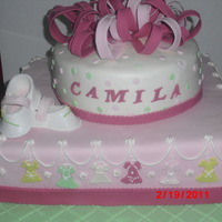 Pink Everything is edible and made out of MMFondant including shoes
