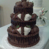 Chocolate Strawberry Groom's Cake Double Wedding - Chocolate and Chocolate Dipped Strawberries..YUM!