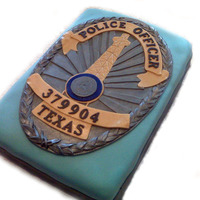 Police Badge Made for a police academy graduation ceremony for an officer.