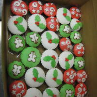 Holiday Cupcakes Cupcakes I recently made for an office party