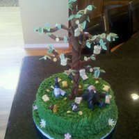 Father Of The Bride Birthday Cake I made this birthday cake for a man whose daughter got married the week before his birthday. He is laying under a money tree surrounded by...
