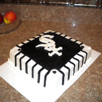 Chicago White Sox   GO White SOX!! covered in buttercream and fondant. TFL!