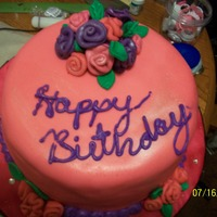 Pink Roses Cake did this a while ago. first time using fondant in the summer. bad idea. but i love how the roses came out. oh yeah pink lemonade cake with...