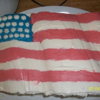 4Th Of July   did this for the 4th. red, white and blue velvet cake with cream cheese icing