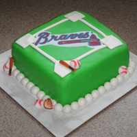 Braves Birthday Cake Made this cake for my Stepdad-In-Law(?) lol (My MIL's husband). Today was his 60th birthday and he is a big Braves fan. My husband...