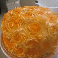 Rose Cake Red Velvet Cake with Cream Cheese Filling/Frosting and Buttercream Roses