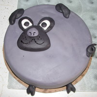 Fat Little Pug   A Cake done for a birthday of a pug lover!