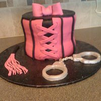 Bachelorette Party Cake I made the whip and handcuffs from gumpaste