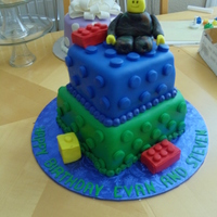 Lego Cake Legos was the theme but they wanted the lego man to wear camo
