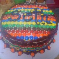 M&m Cake This is VERY sloppy, I know. But, that aside, I think it is a very cute concept. I made this cake for my three year old nephew. I had a...