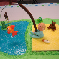Fishing Themed Baby Shower Cake