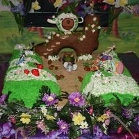Tinkerbell Cake A Tinkerbell Cake from the first movie for my daughters 4th birthday.