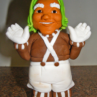 Oompa Loompa Oompa Loompa figurine made from fondant (with added tylose). Am only new to the world of making figurines and would LOVE some feedback....