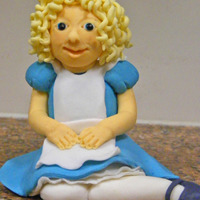 Chloe (Alice) In Wonderland My first attempt at a figurine - Alice in Wonderland styled to look like 'Chloe' the 5yo birthday girl, ready to sit atop a...