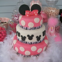 Minnie Mouse Cake   Minnie mouse birthday