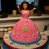 Princess Cake 2 An adult friend, after seeing the cake I made for my granddaughter, asked for one for her birthday, except she wanted lots of pink LOL