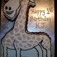 Giraffe This cute giraffe was inspired by the Madagascar movie for a 1 year old's birthday.