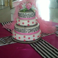 Pink, Black And White Wedding