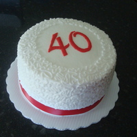 40Th Anniversary Cake decorated with all buttercream
