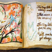Open Book Shower Cake I included a baby poem and vintage look art. I wasn't entirely pleased with the writing, but just getting started I thought I'd...