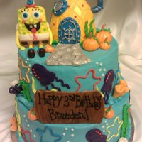 Spongebob Squarepants Fondant pumpkins were added because the birthday boy had his party at a pumpkin patch. TFL!