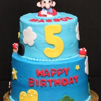 Mario Iced cake with Fondant