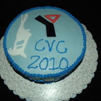 Ymca Cvc 2010 Ameretto cake with milk chocolate filing. Buttercream icing with fondant accents.