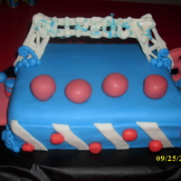 "Wipeout My son's favorite tv show is Wipeout, so I made him a ""Wipeout"" themed cake for his 5th birthday. It has all of his favorite..."