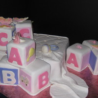 Baby Shower For Girl Cubes, Bed, Ruffle, etc. Look and enjoy!